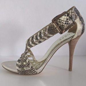 Guess Gwrianne2 Gold Python heels